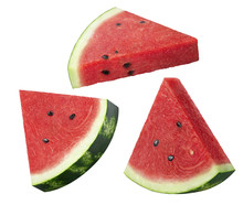 Watermelon Slices Set Isolated...