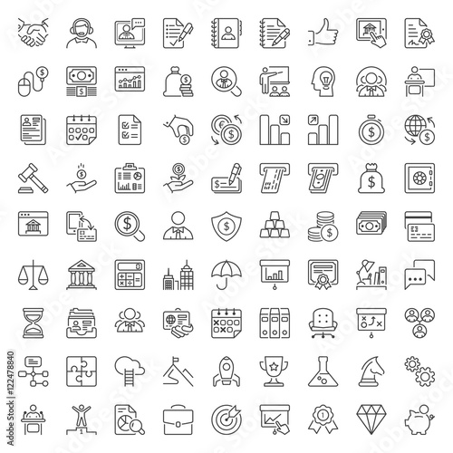 Fotografía  business and finance thin line iconset