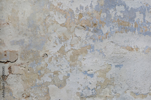 Poster Vieux mur texturé sale Cracked plaster old wall texture background