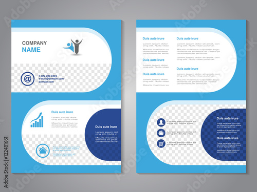 vector modern brochure abstract flyer simple design with rounded shapes layout template