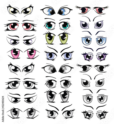 Canvas Prints Baby room Complete Set of the Drawn Eyes for you Design