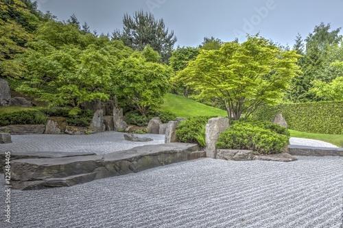 Zen Garten In Den Gärten Der Welt Berlin Buy This Stock Photo And