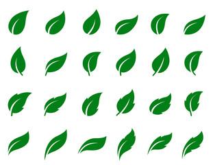 set of leaf icons