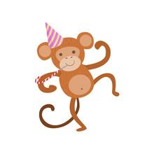 Monkey Cute Animal Character A...