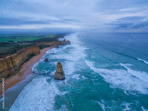 Fotobehang Natuur Park Aerial view of twelve apostles coastline
