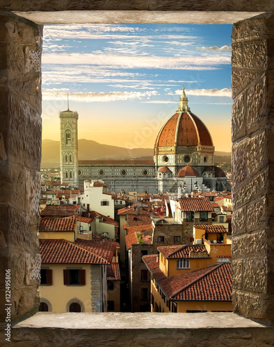 Foto op Canvas Florence Florence from window