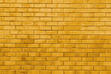 Yellow Gold Brick Wall Abstract Texture Background