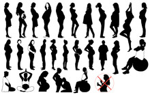 Pregnant Women Set Black