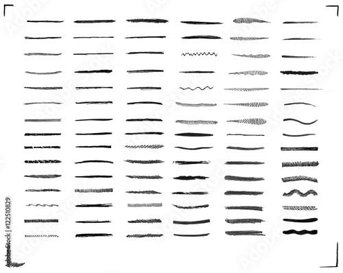 In de dag Boho Stijl Set of black brush strokes