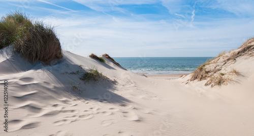 Poster Noordzee Blick aufs Meer aus den Dünen