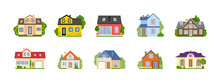 Isolated Cartoon Houses Set. S...
