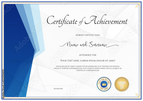 Modern certificate template for achievement appreciation modern certificate template for achievement appreciation participation yadclub Gallery