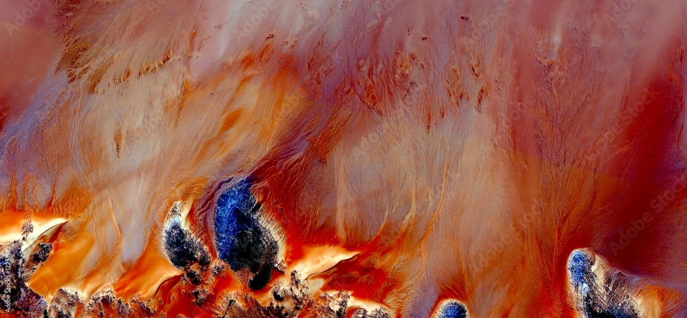 the desert on fire, bonfires of San Juan,abstract landscapes of deserts,Abstract Naturalism,abstract photography deserts of Africa from the air,mirage in desert,abstract expressionism