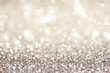 canvas print picture - Silver white glittering Christmas lights. Festive abstract glitter bokeh background