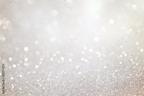 Photo  Silver glittering christmas lights