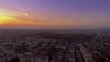 aerial view of sunset over the city