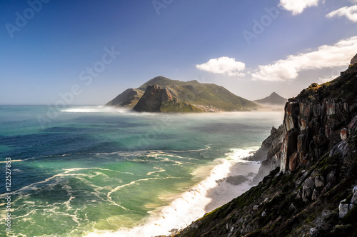 Fotografija  Hout Bay near Cape Town, Western Cape province, South Africa, seen from Chapman's Peak Drive