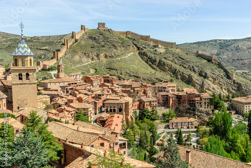 scenery of the medieval town of Albarracin in the province of Teruel in Aragon, Spain