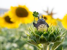 Totoro On Sun Flower