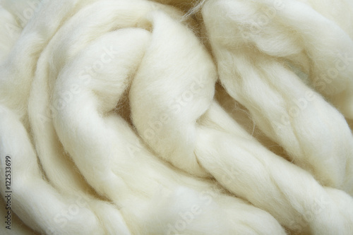 Fotografie, Obraz A full page of white needle felting wool background texture