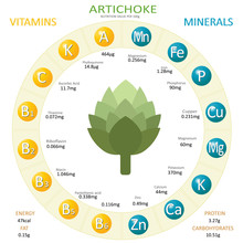 Infographics About Nutrients In Artichoke