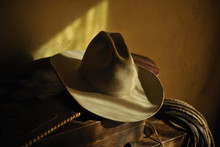 Authentic Cowboy Hat And Rodeo...