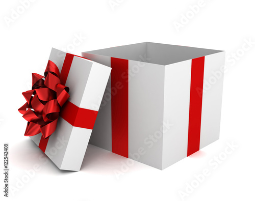 Fotografie, Obraz  opened gift box  3d illustration