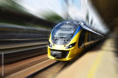 Plakat Nowoczesny pociąg