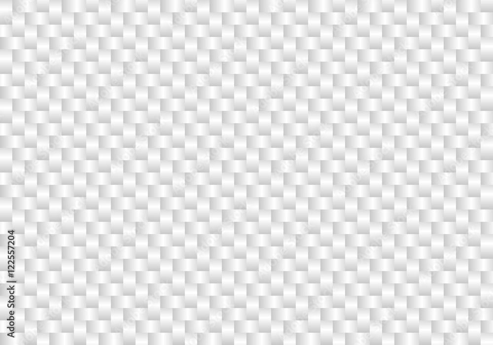Fototapeta Vector white carbon fiber seamless background. Abstract cloth material wallpaper for car tuning or service. Endless light web texture or page fill pattern