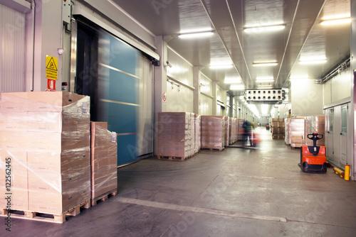 Staande foto Industrial geb. Large cold warehouse