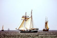 Sailing Ship On Gloomy Day, Si...