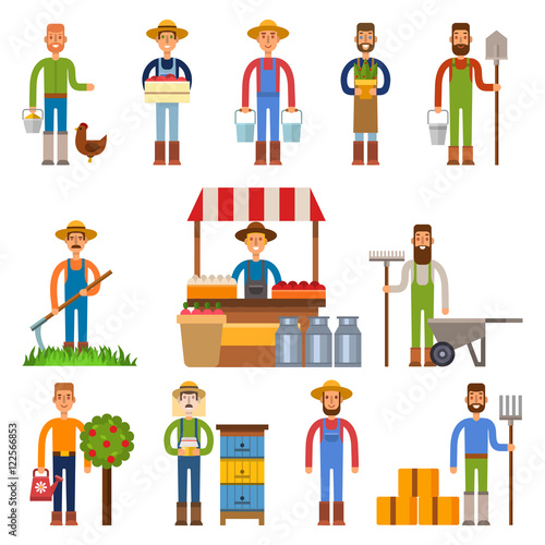 Photo  Farmers vector illustration
