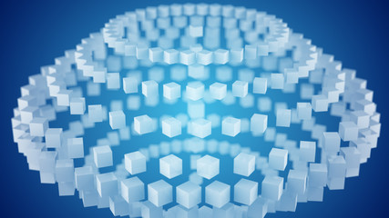 Geometric shape abstract 3D render