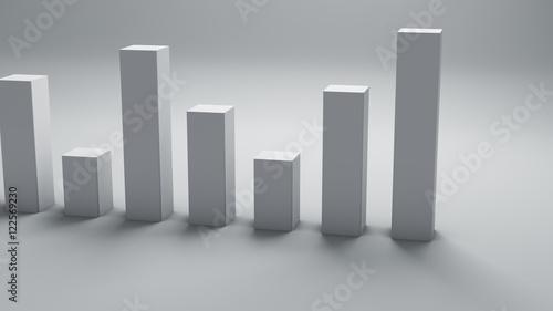 Fotografía  Bar chart graph 3D render concept
