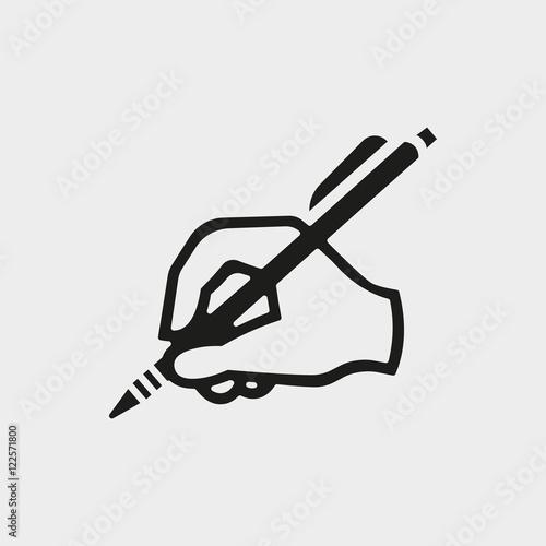 Fotografía  hand writing icon stock vector illustration flat design