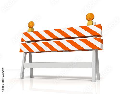 Photo prohibited barrier concept   3d illustration