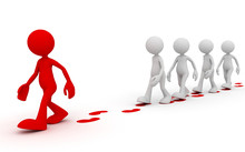 Following Leader Concept  3d I...