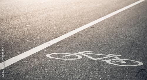 bike lane in evening sunlight Wallpaper Mural