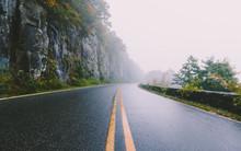 Foggy Mountain Road. Shenandoah National Park