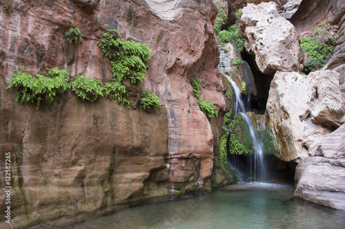 Spring fed waterfall adjacent the Colorado River, Grand Canyon, Arizona, United States