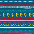 Seamless colorful tribal pattern. Trendy hand drawn ethnic texture .Vector Illustration
