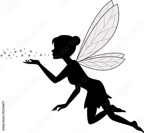Cute fairy flying Fototapeta
