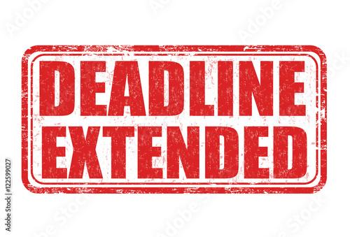 Deadline extended stamp Fototapet