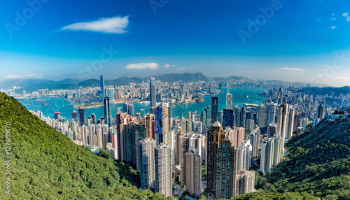 Photo Hong Kong Panorama View from The Peak