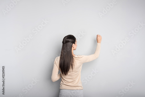 Pleasant professional teacher conducting a lesson Fototapeta
