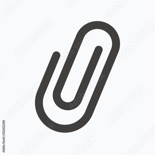 Photo Attachment icon. Paper clip sign.
