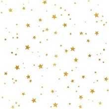 Seamless Pattern With Gold Foi...