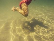 Baby Legs Kicking Underwater