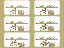 Gift Card With A Gift Box. Set...
