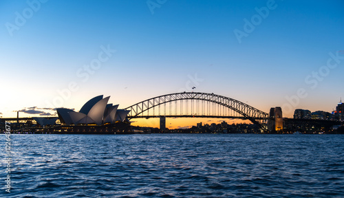 Poster Océanie View from Sydney city, Australia